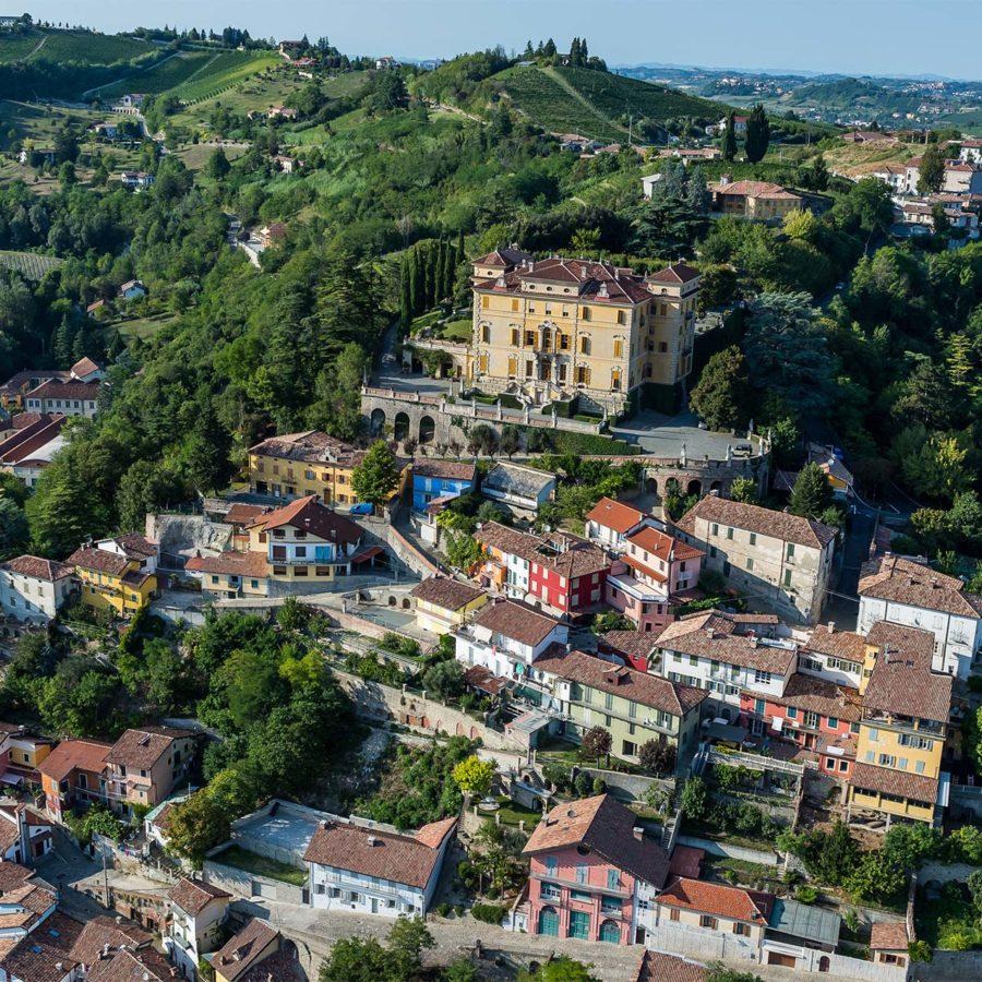 Drone image of Piedmont Italy