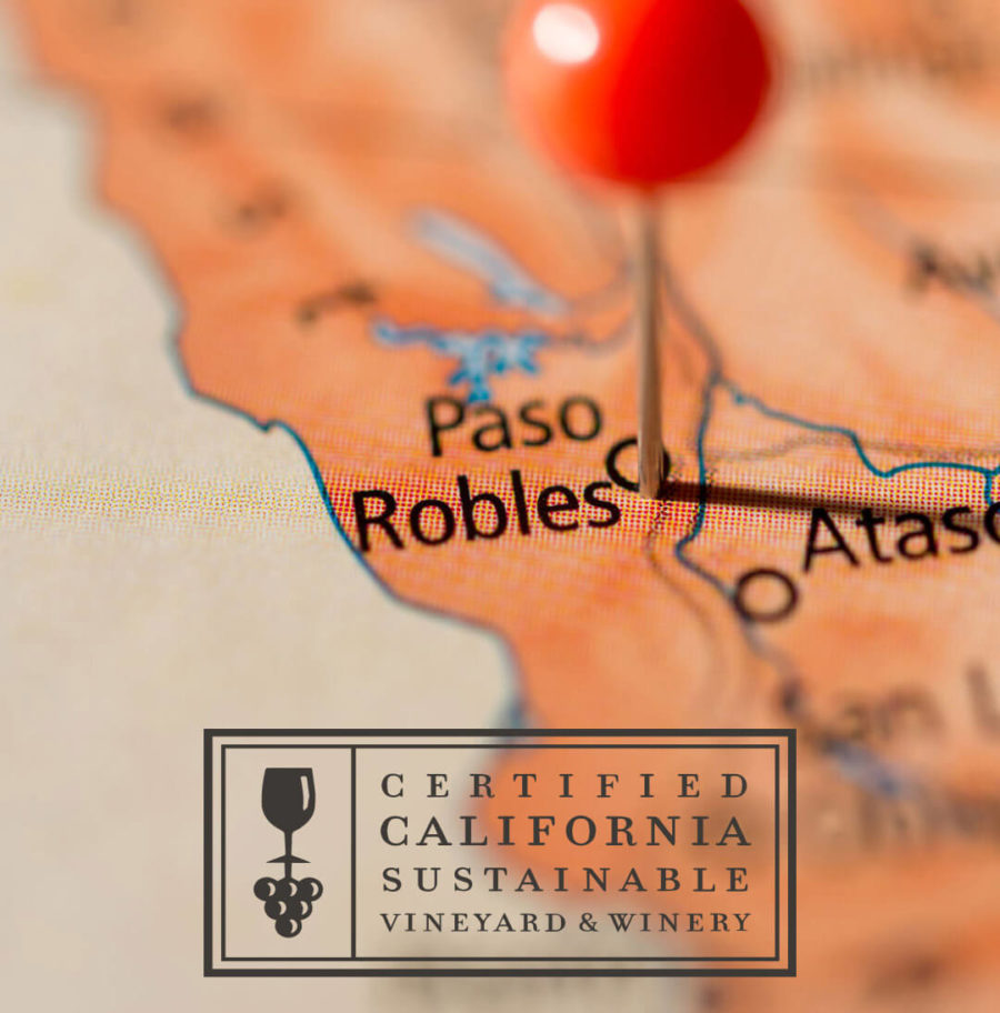 Paso Robles marked on map
